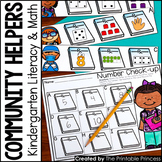 Kindergarten Community Helpers Centers for Math and Litera