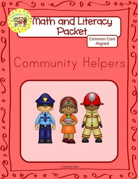 Community Helpers Worksheets Emergent Reader Task Cards