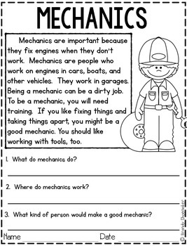 Community Helpers: Mechanic