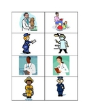 Community Helpers Memory Matching Card Game