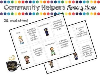 Community Helpers Memory Game