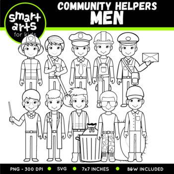 Community Helpers - Men Clip Art