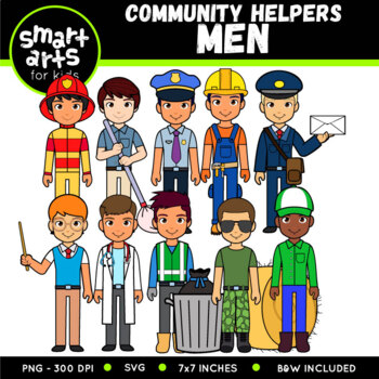 Community Helpers - Men Digital Clipart