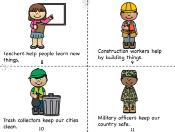 Community Helpers Mini Book