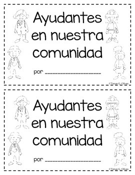 Community Helpers Mini Book--in Both English and Spanish