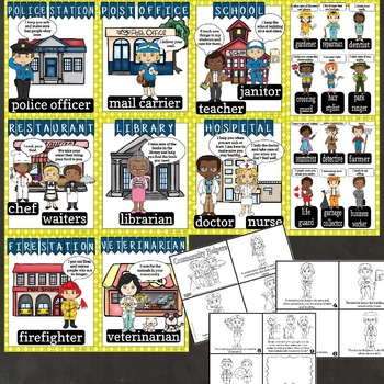 Community Helpers Mini Bundle- Mini Posters and Mini Book