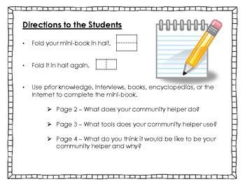 Community Helpers - Mini-Research Foldable Books