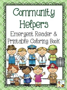 Community Helpers Emergent Reader & Printable Coloring Book