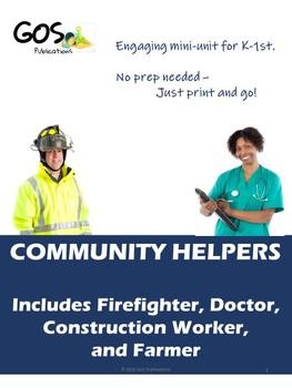 Community Helpers Mini-Unit {EDITABLE}