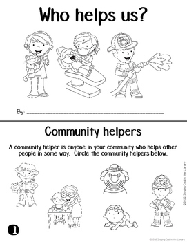 Community Helpers Mini Books and Printables