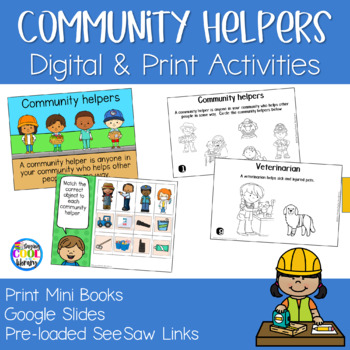 Community Helpers - Mini Books and Printables