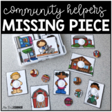 Community Helpers Missing Pieces Task Box   Task Boxes for