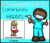 Community Helpers Movement Cards