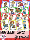Community Helpers Movement Cards for Preschool and Brain Break