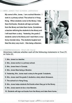 Community Helpers - Mrs. Jones the School Librarian - Grade 2