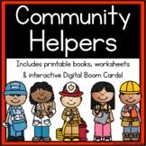Community Workers / My School Community Helpers { printable books & worksheets }