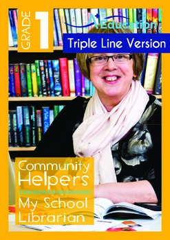 Community Helpers - My School Librarian (with 'Triple-Track Writing Lines')