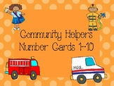 Community Helpers Number Cards 1-10