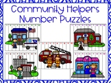 Community Helpers Number Puzzles