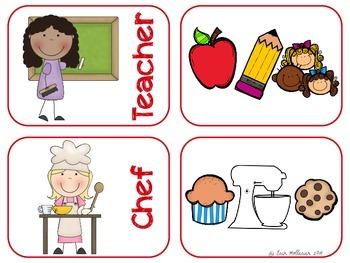Community Helpers Number and Association Cards - Preschool Social Studies
