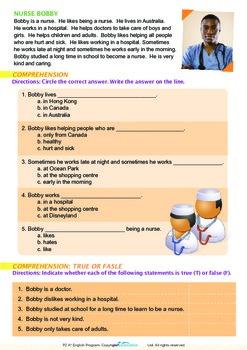 Community Helpers - Nurse Bobby - Grade 2