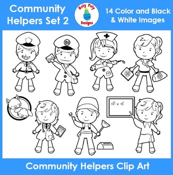 Community Helpers & Occupations Set 2 Clip Art