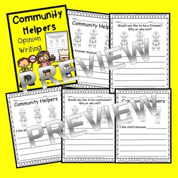 Community Helpers Opinion Writing