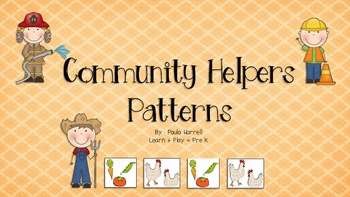 Community Helpers - PATTERNS!