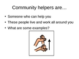 Community Helpers PPT