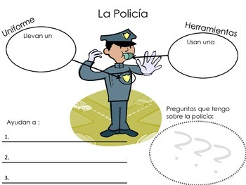 Community Helpers Pack (Spanish and English bundle)