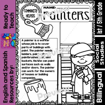 Community Helpers - Painters - Pintores (Bilingual Set)