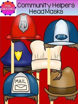 Community Helpers Paper Head Masks