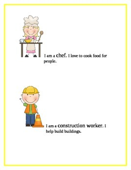 Community Helpers: Part 2  Definitions and worksheets.