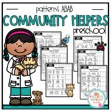 """Community Helpers Pattern Worksheets  """"No Prep"""""""