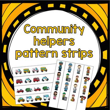 Community Helpers Patterning Strips - Low Prep