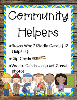 Community Helpers Picture Cards and Riddles