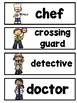 Community Helpers Picture Word Cards Mini-Set For Kindergarten