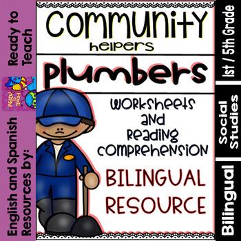 Community Helpers - Plumbers - Plomeros (Bilingual Set)