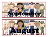 Community Helpers Pocket Chart Calender Cards (July, August, September)