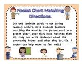 Community Helpers Pocket Chart Matching