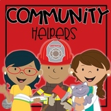 Community Helpers Pocket Chart-Printables-Hats
