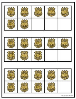 Community Helpers: Police Counting Mats and Ten Frames
