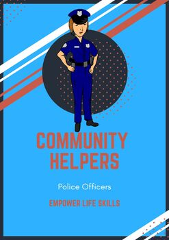Community Helpers: Police Officers (handouts, activities & thank you card)