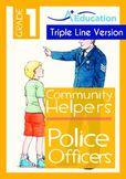 Community Helpers - Police Officers (with 'Triple-Track Writing Lines')