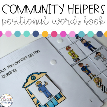 Community Helpers Positional Words Book