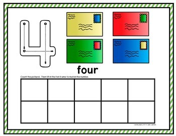 Community Helpers: Post Office Counting Mats and Ten Frames