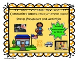 Community Helpers: Post Office Vocab and Activities