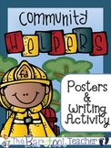 Community Helpers Posters (12 Total) & Writing Activity