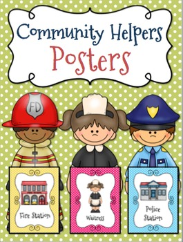 Community Helpers Posters  l  Community Building Posters {36 Posters}