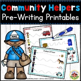 Community Helpers Pre-Writing Printables